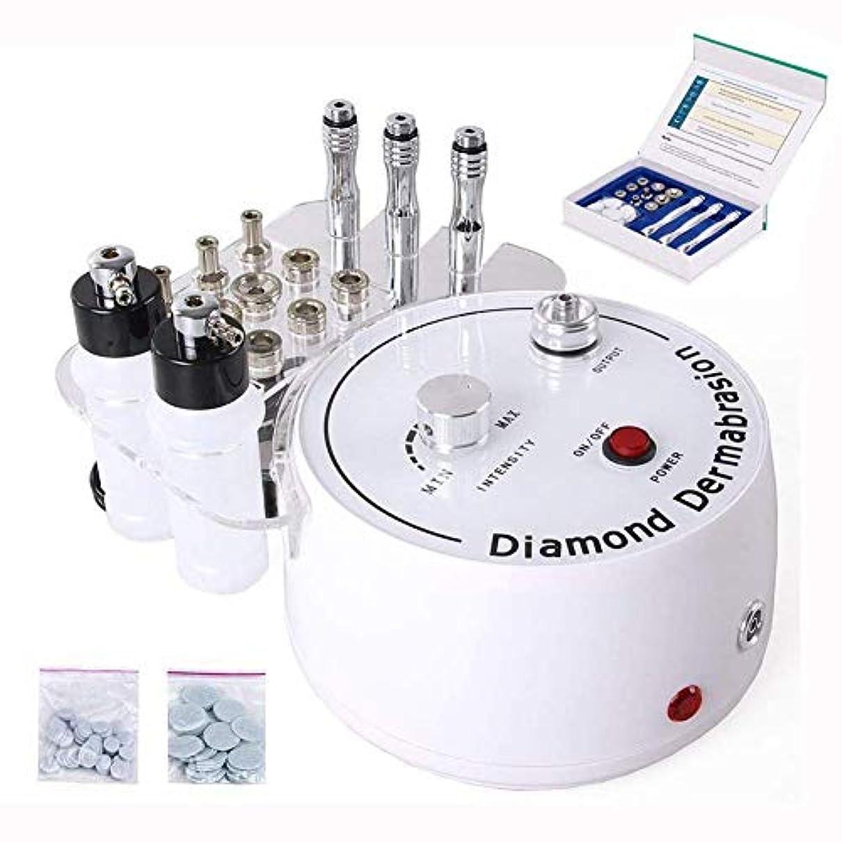 ズームインする不良品報復するダイヤモンドマイクロダーマブレーション皮膚剥離機、ピーリング美容機しわフェイスピーリングマシン、専門の皮膚剥離装置肌用美容機器を引き締め若返りリフティングピーリング