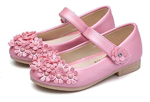 クアド KUADO ガールズ フォーマルシューズ 女の子 靴 花 ドレス シューズ 発表会 入園式 卒園式 21.0, ピンク