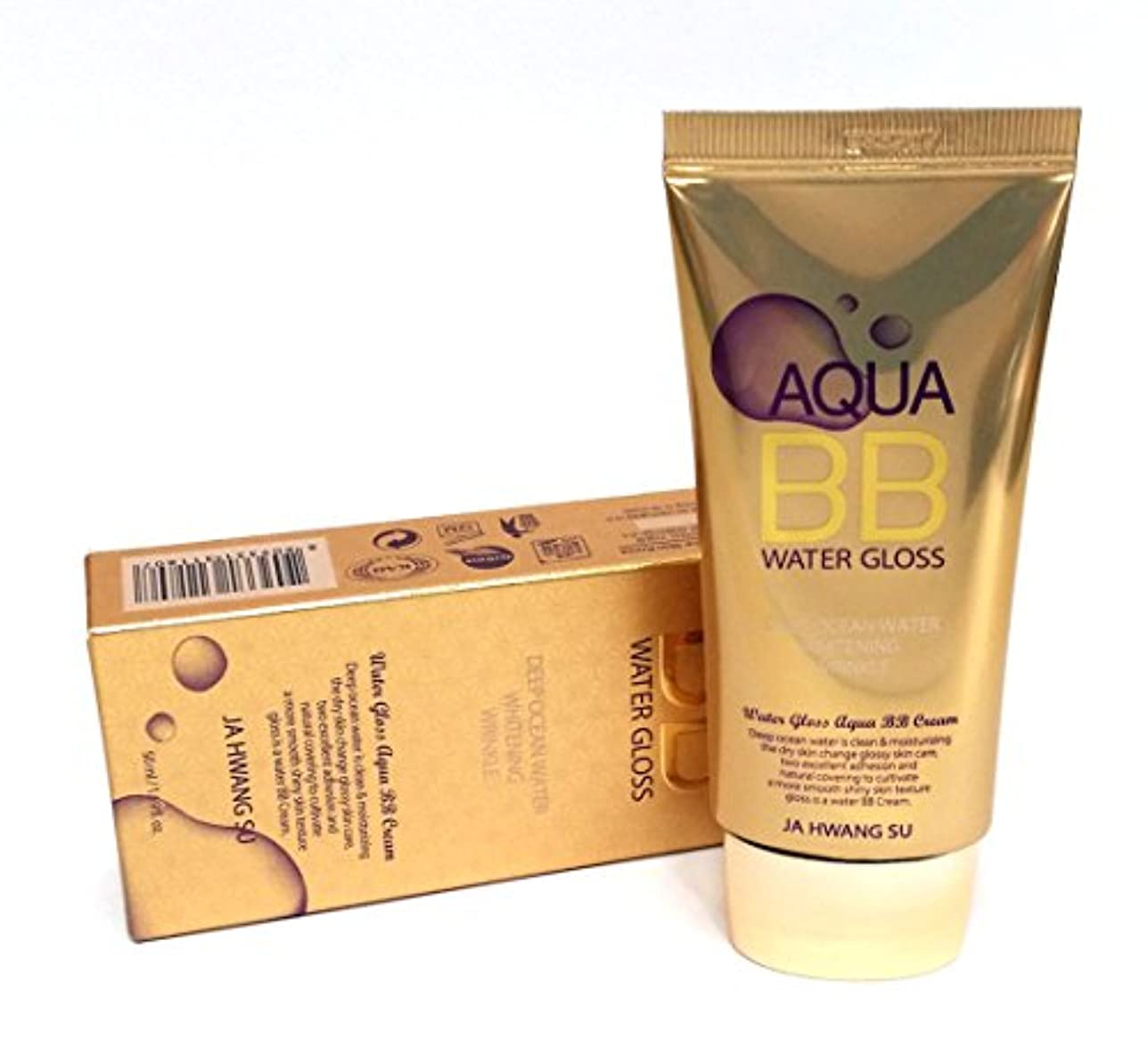 くそー放送緩める[Ja Hwang Su] アクアウォーターグロスBBクリーム50ml / Aqua Water Gloss BB Cream 50ml / 美白、しわ / whitening, wrinkle / 韓国化粧品 / Korean...