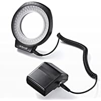サンワダイレクト カメラLED リングライト マクロ フラッシュ対応 80灯 調光 ステップアップリング付属 200-DGAC001