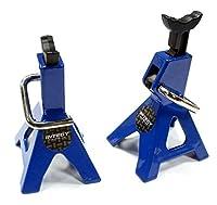 Integy RC Model Hop-ups C25427BLUE Realistic Model Jack Stands (2) for 1/10 & 1/8 Scale & Rock Crawler