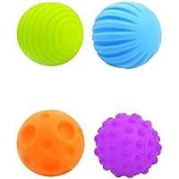 Lovoski 4枚入り ラバー製 マルチ 赤ちゃん ベビー ソフトボール ふわふわ  玩具  感覚器官の開発  ギフト