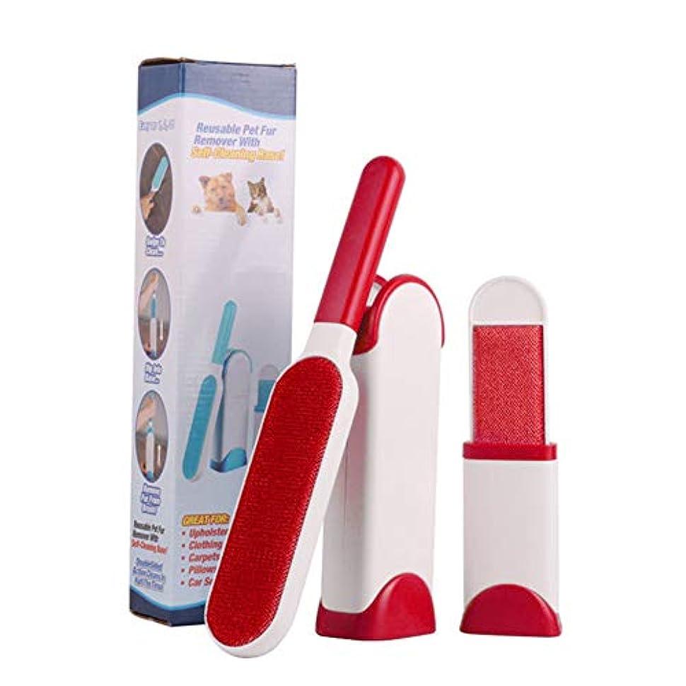 ペット用静電脱毛器は、汚れを落とし、バックルのデザインをきれいにするための軽いブラシのみを必要とし、簡単に取り外して洗って、時間を節約し、広く使用できます,赤