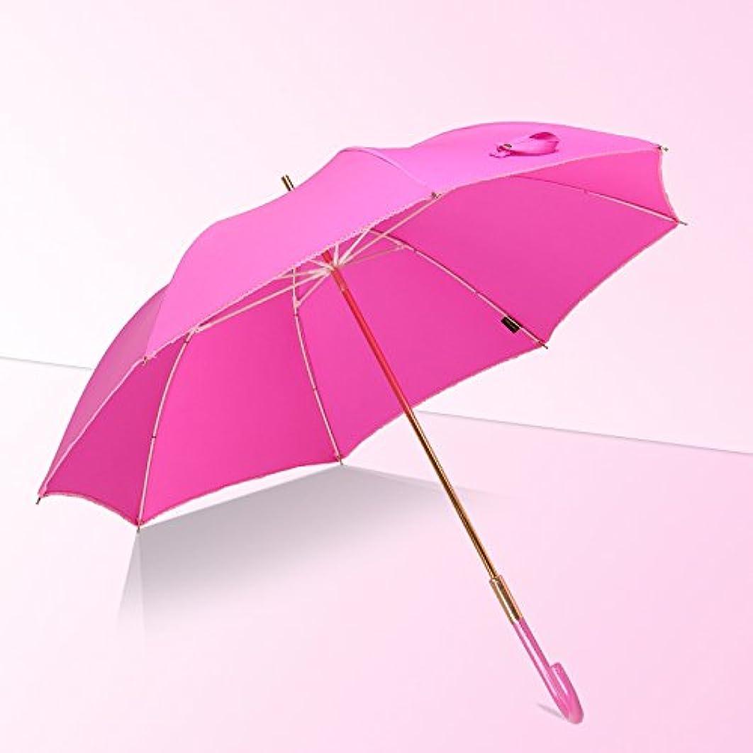 調子パーティション不格好傘の女の子が長いジャカードファブリックソリッドカラーレトロデュアルユース太陽の傘を扱う DYY