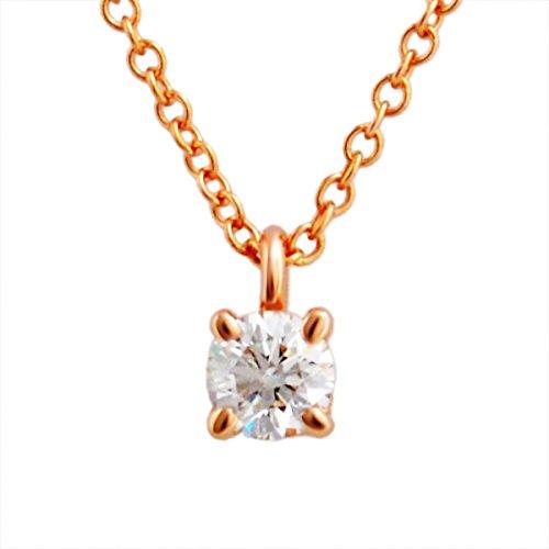 [ティファニー] TIFFANY ダイヤモンド 0.17ct×18KRG ローズゴールド ソリティア ペンダント ネックレス 41cm 【並行輸入品】 30223942
