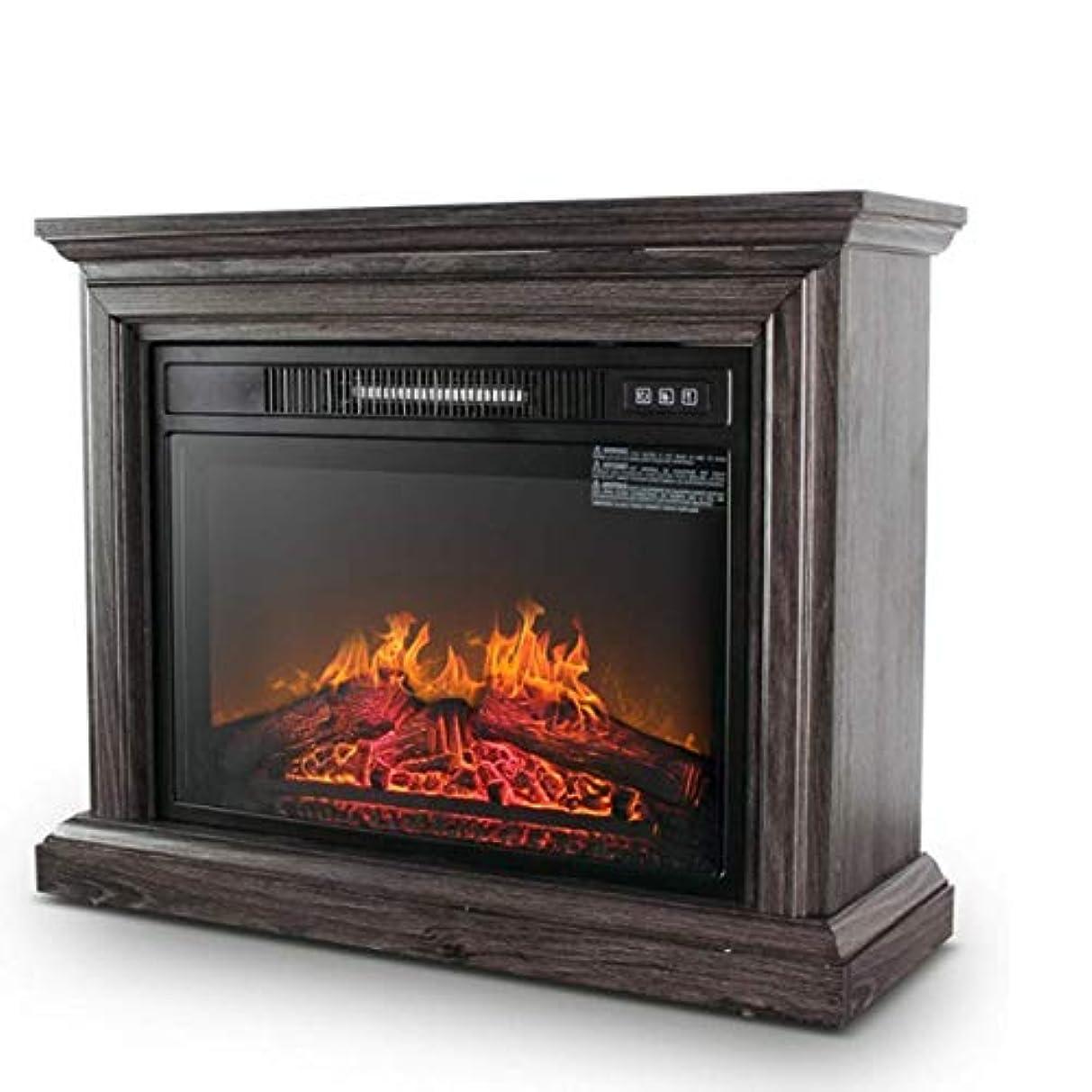 クレジット寮役に立つ電気暖炉のヒーターの炎の効果の居間の床のサラウンドのリモート?コントロール木製の燃えるLEDライトが付いている永続的な火