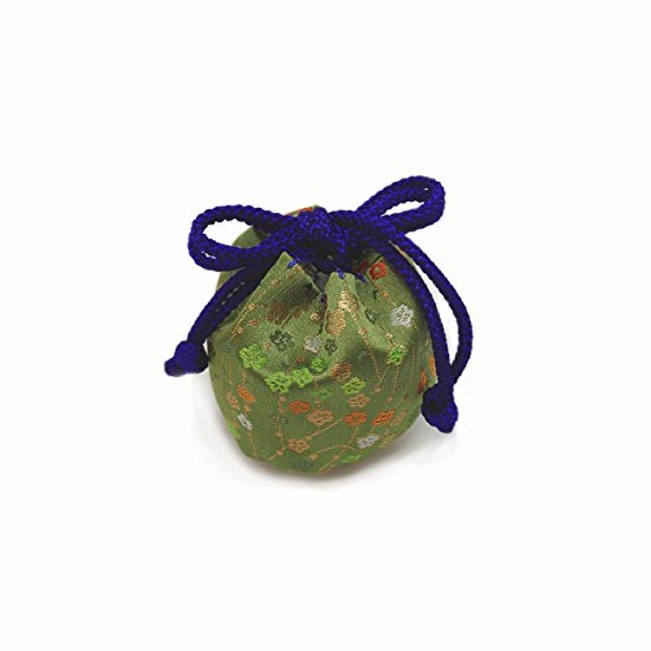 追加ますます使い込む御所袋 小 キンラン 緑系