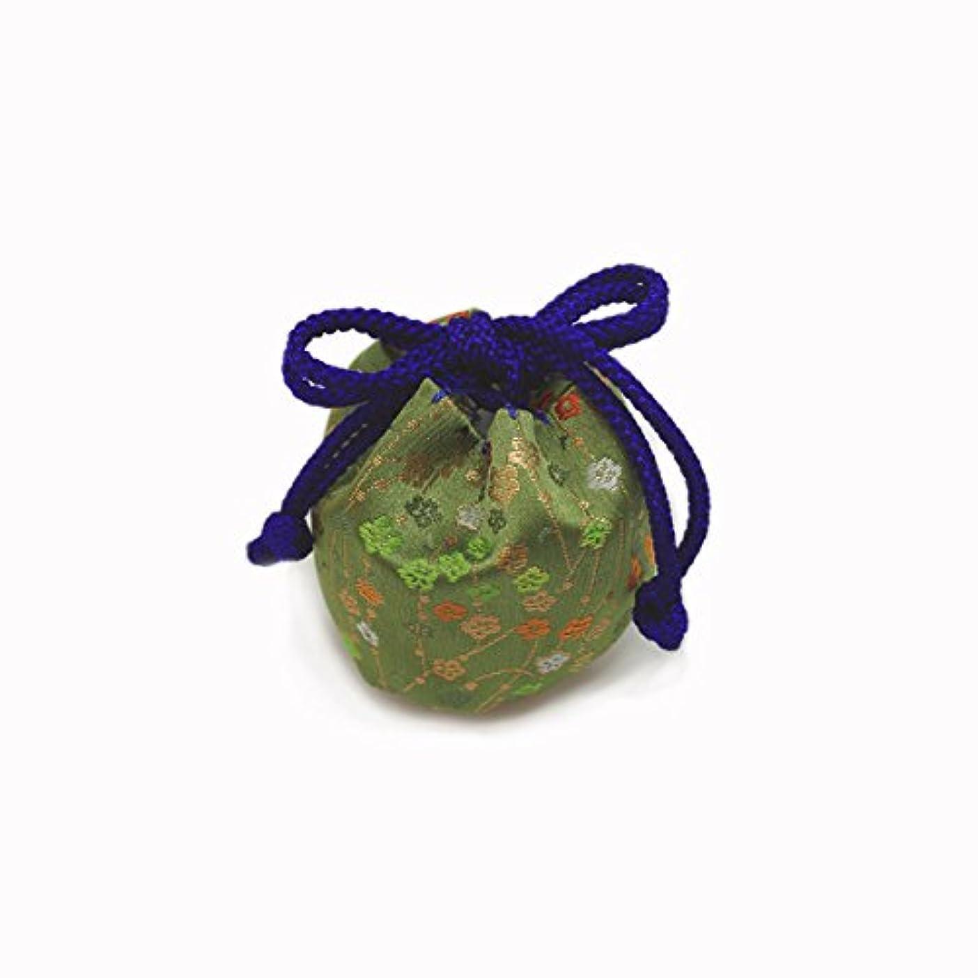腕管理する芸術的御所袋 小 キンラン 緑系