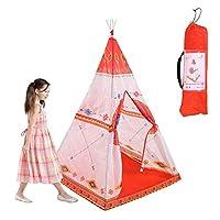 PUERI キッズテント 子供テント キッズハウス 組立て 簡単 収納ケース付 屋内・屋外用 誕生日 新学期プレゼント