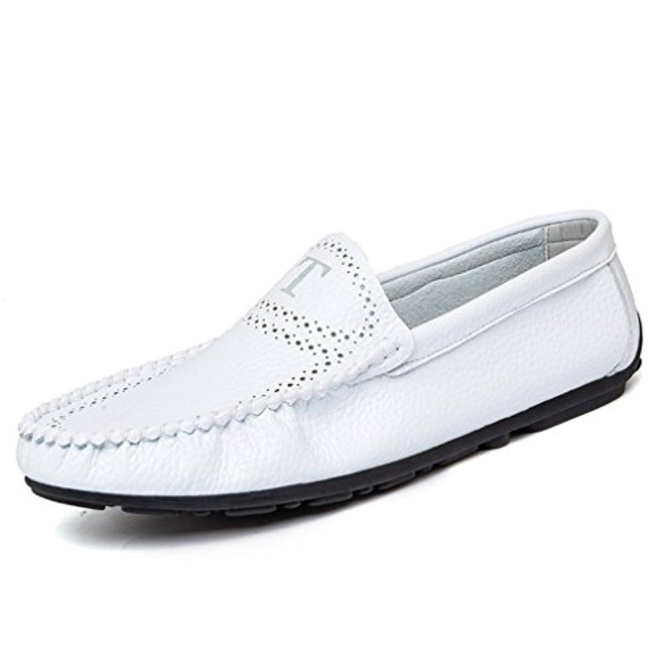 直接マイクロ日帰り旅行に[OM]メンズ 牛革 ドライビングシューズ 軽量 スリッポンシューズ クラシック 職場用 モカシン ビジネスシューズ 靴 レザー 本革 柔らかい ローファー コンフォート 革靴 四季の靴 快適 履きやすい