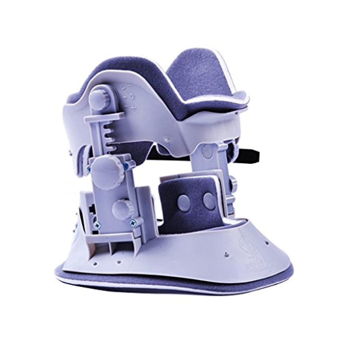 のり従順冷える頚椎固定牽引腰椎背部首首吊り首トラクターマッサージ理学療法器具 (Color : Blue)