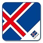 世界の国旗 ハンドミニタオル K(アイスランド)