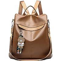 Aiseyi Women Backpack Purse PU Leather Anti-theft Waterproof Casual Rucksack Lightweight School Shoulder Bag