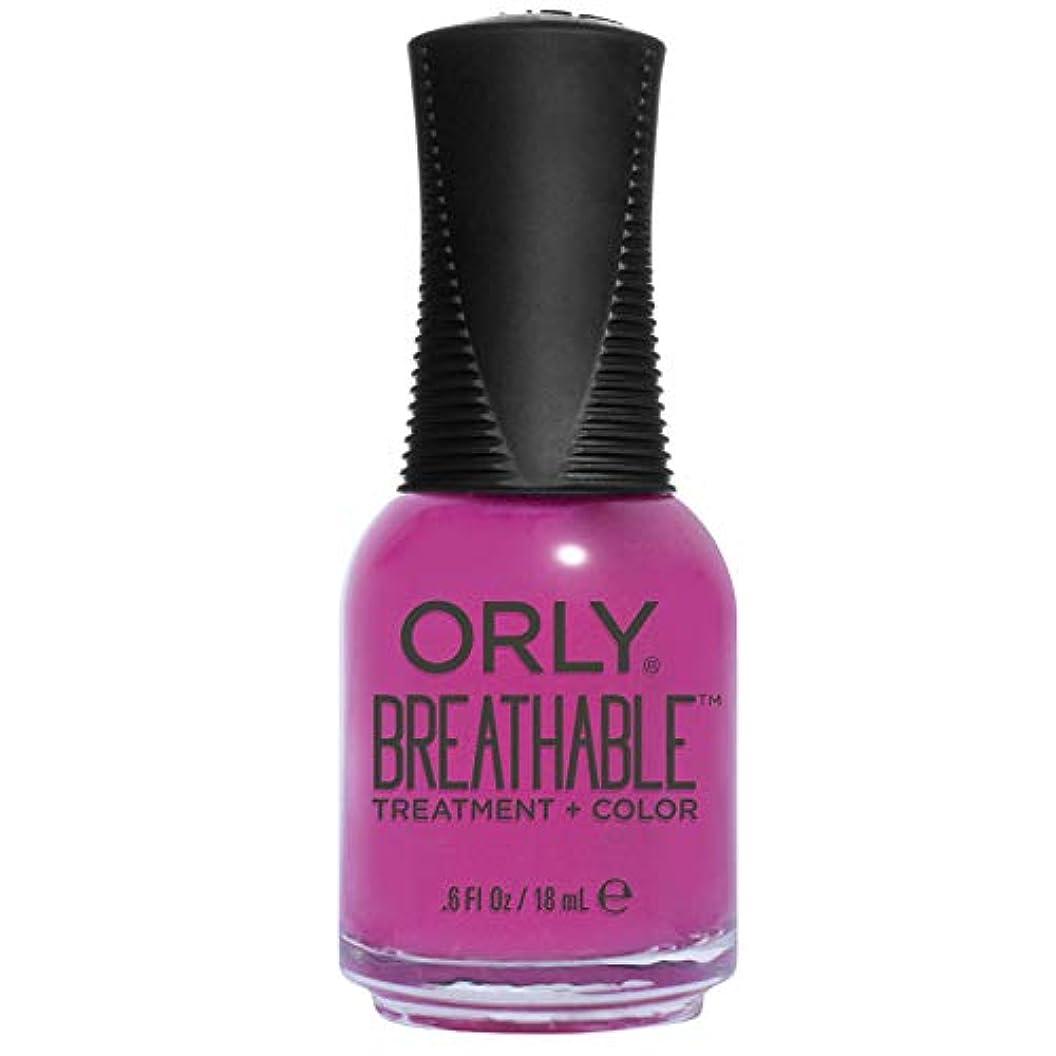 力吐く放牧するOrly Breathable Treatment + Color Nail Lacquer - Give Me a Break - 0.6oz/18ml