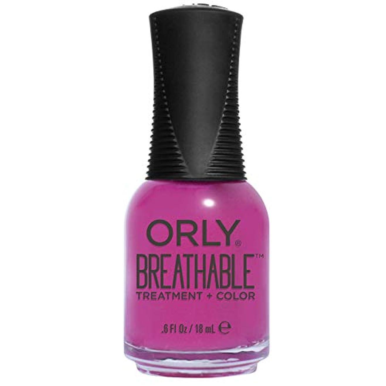 ランチョン遡るあごひげOrly Breathable Treatment + Color Nail Lacquer - Give Me a Break - 0.6oz/18ml