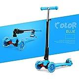 子供の折りたたみスクーターベビースクーター三輪車スクーターフラッシュを持ち上げることができますベビーカーの誕生日プレゼント ( Color : Blue )