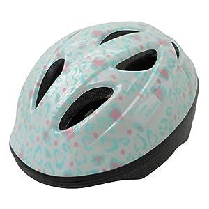 自転車 ヘルメット ジュニア SGマーク付 児童用 ラブレオパードホワイト アジアンフィットタイプ 46835 (頭囲 54cm~58cm未満)