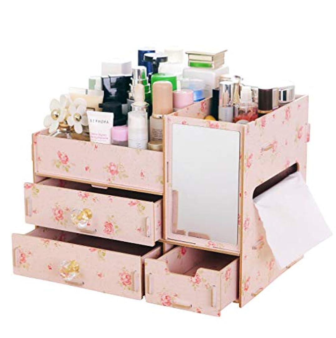 行商人租界ポンペイ伊耶那美(イザナミ) 化粧品 コスメ ジュエリー 収納 ボックス メイクボックス 木製 組み立て式(椿)