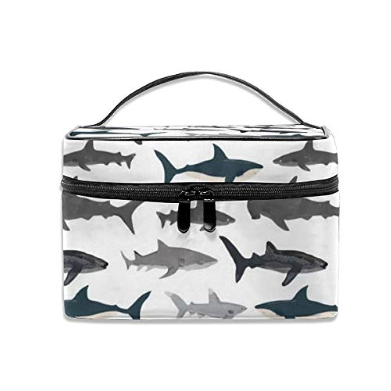 白菜怠惰専門サメ柄 化粧ポーチ 化粧品バッグ 化粧品収納バッグ 収納バッグ 防水ウォッシュバッグ ポータブル 持ち運び便利 大容量 軽量 ユニセックス 旅行する