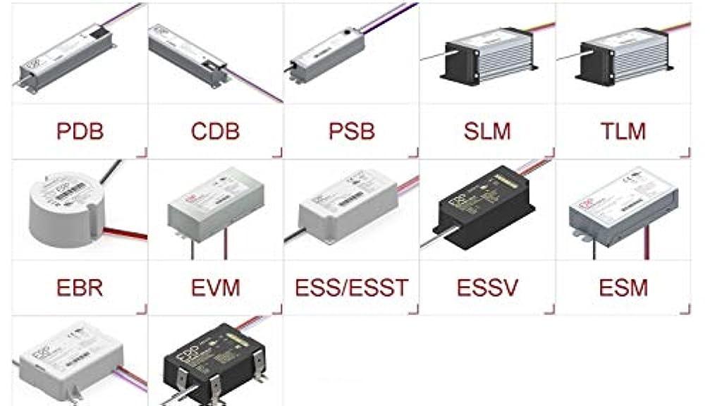 ゴミ箱を空にする血まみれの代表団ERP Power LLC ESS030W-0550-42 AC/DC LED 電源 23.1W シングル 6ピン