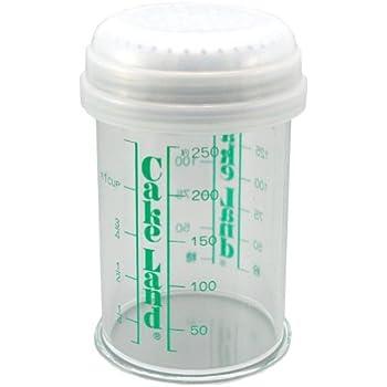 タイガークラウン パウダー缶 クリア 75×120mm 粉パラリ メタクリル樹脂 ステンレス網 目盛付 カバー付 757