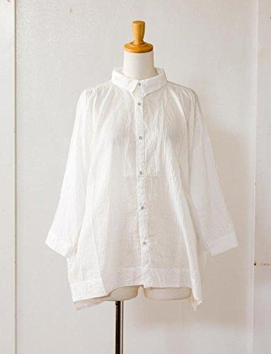 (イチ) ICHI レギュラーカラー7分袖シャツ フリーサイズ ホワイト(A)