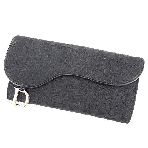 ディオール Dior 長財布 Wホック レディース サドル トロッター 中古 C3498
