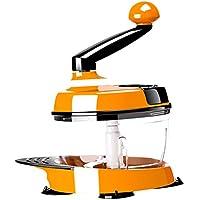 Perfk みじん切り器  スーパースピード  フード チョッパー 野菜 手動 プロセッサー フードチョッパー キッチン用品 便利 実用 全2色 - オレンジ
