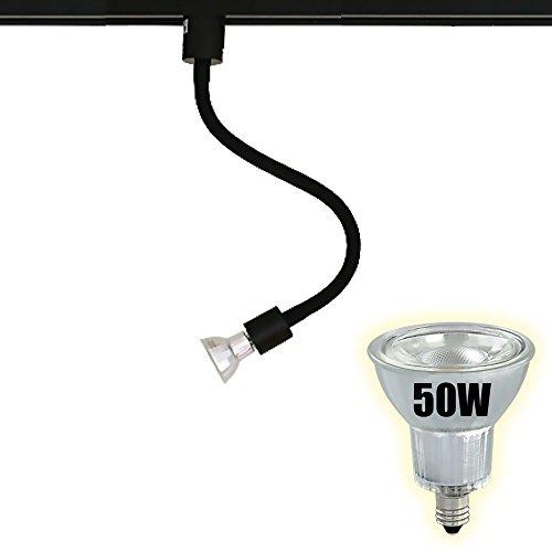 ダクトレール スポットライト E11 黒 白 電球色 昼白色 E11RAIL-LONG (c.黒+電球色(E11RAIL-KLONG-LDR6L))