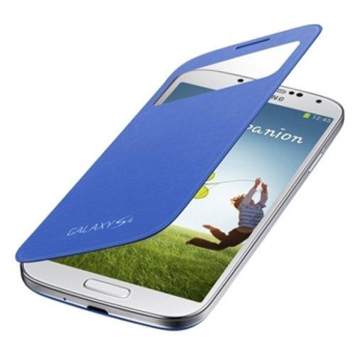 SAMSUNG純正GALAXY S4 S View Cover / docomo GALAXY S4 SC-04E専用カバー / ブルー(全7色) / ギャラクシーS4フリップカバー / ワンセグアンテナ対応 / ブルー