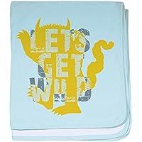CafePress – Let 's Get Wild – スーパーソフトベビー毛布、新生児おくるみ ブルー 089016498225CD2