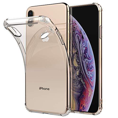 iPhone XS Max ケース スマホケース?クリア 高品質TPU素材 保護カバー 透明 ソフト 耐衝撃 擦り傷防止 iPhone case By MAXVINCI (iPhone XS MAX)