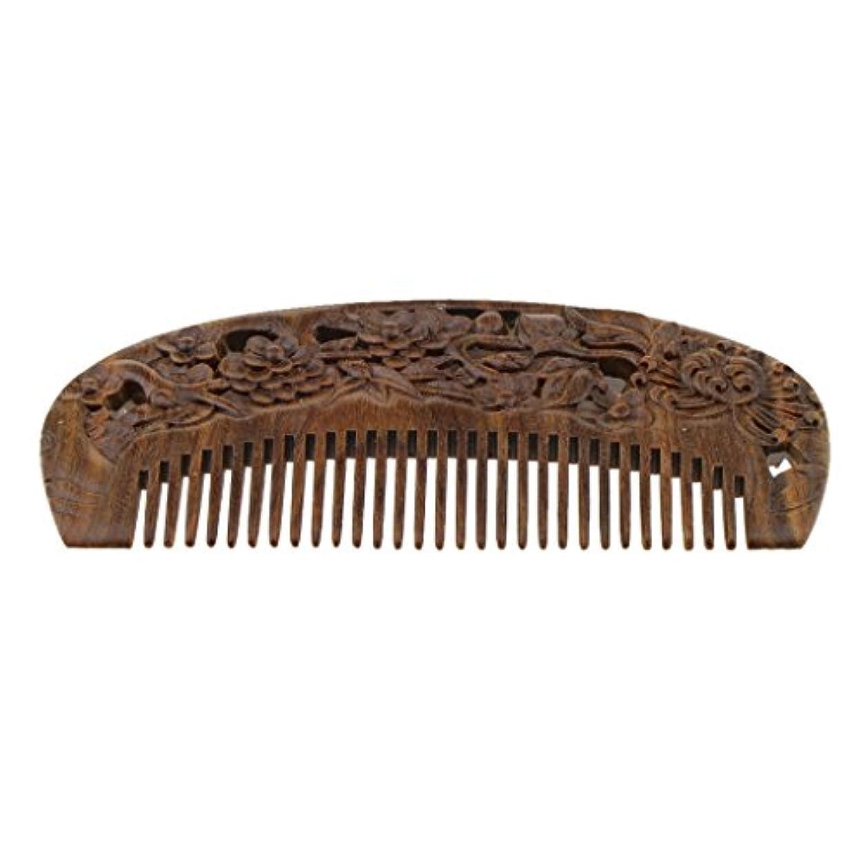 ホイップ増幅考古学的なSM SunniMix 木製コーム ウッドコーム ワイド歯 ヘアブラシ 頭皮マッサージ ヘアスタイリング 全2種類 - #2