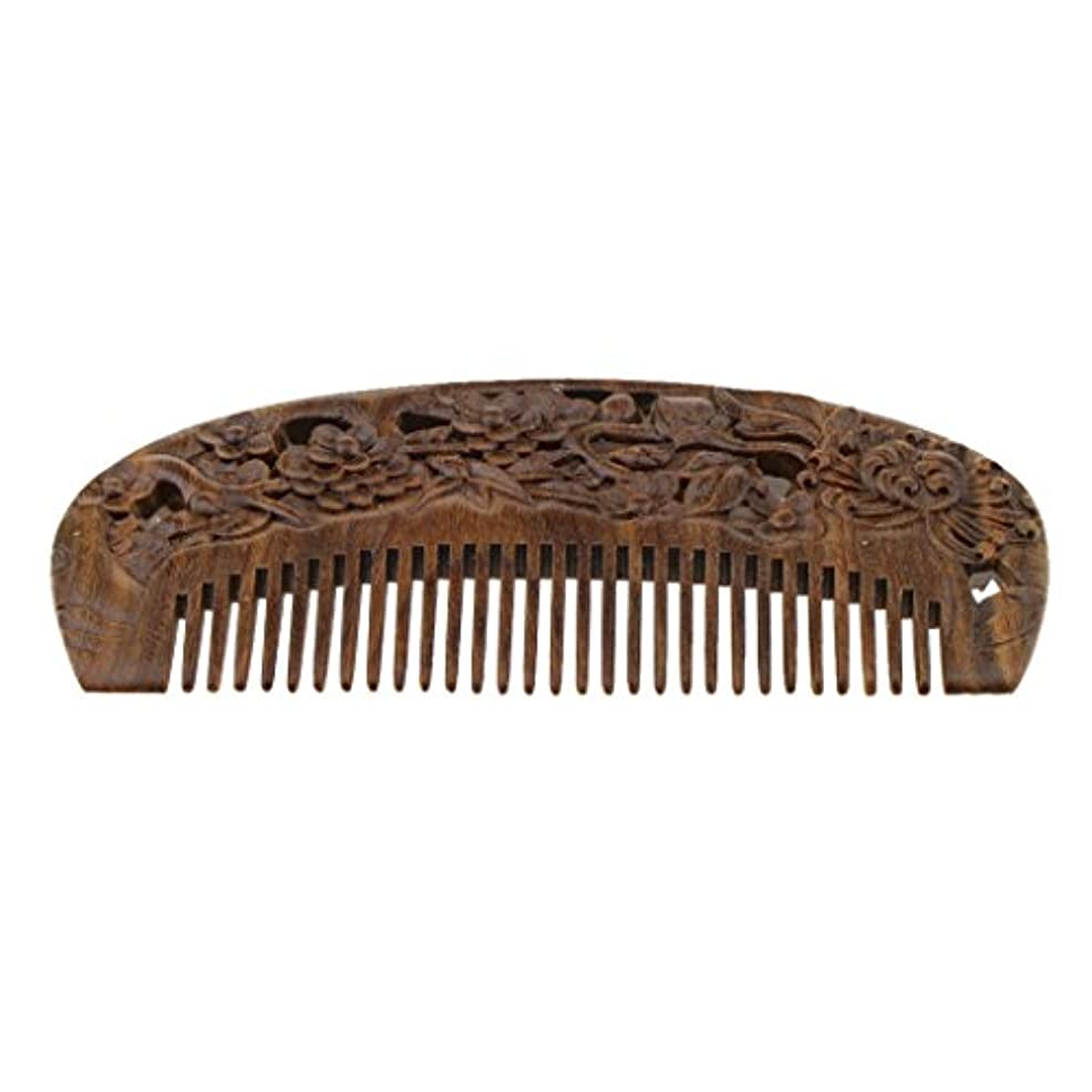 見捨てられた反発するインサートSM SunniMix 木製コーム ウッドコーム ワイド歯 ヘアブラシ 頭皮マッサージ ヘアスタイリング 全2種類 - #2