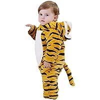 Happity Baby Romper Infant Jumpsuits Unisex Animal Onesie Newborn Flannel Overalls