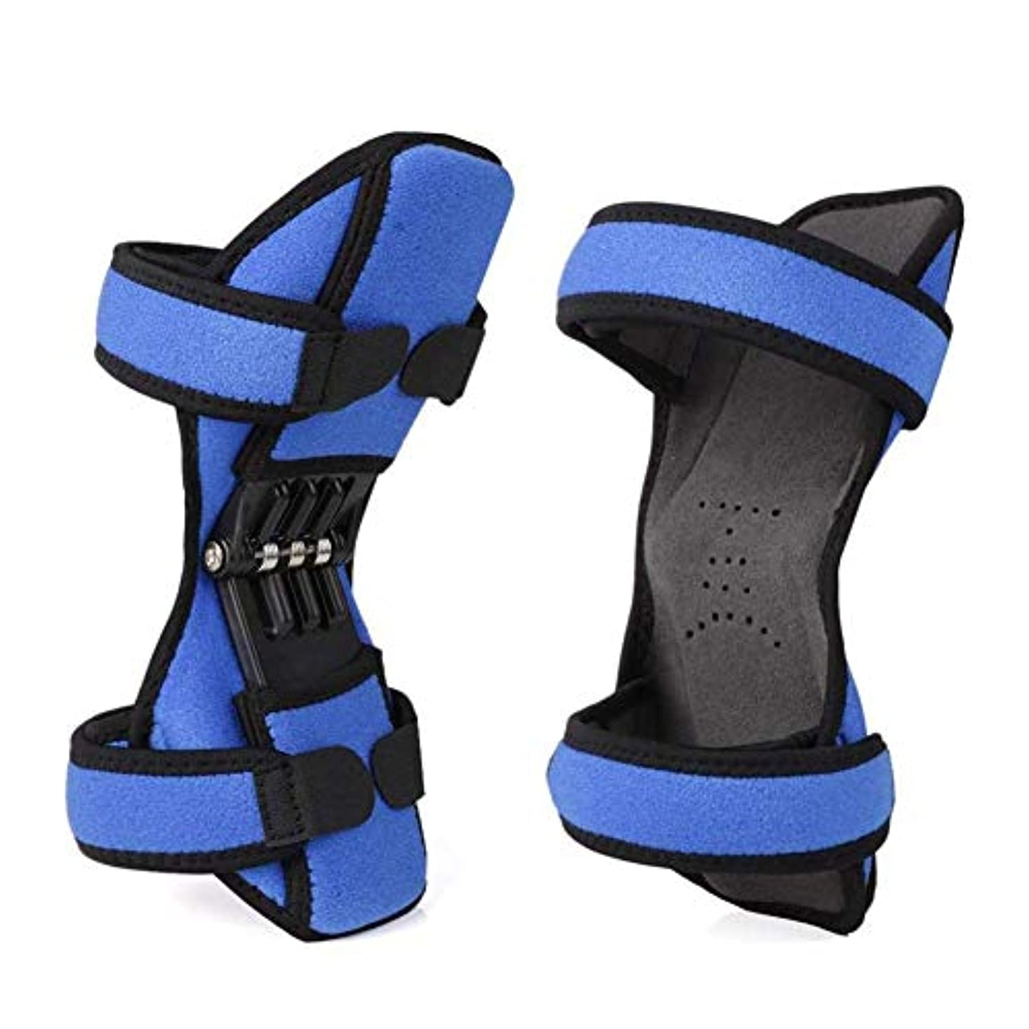 削る八百屋さん亡命強力なリバウンドスプリング力を備えた 膝パッドブースターパッド(1ペア) blue