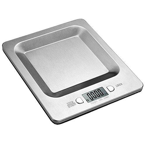 Setom デジタルクッキングスケール 1gから5kgまで キッチンスケール 高精度 ステンレス製 小型 フルーツ/ミルクなどの計量用