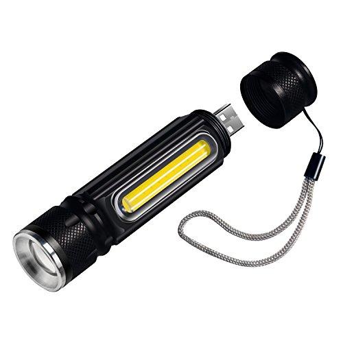 懐中電灯 USB充電式 高輝度 Xml-T6 LED COB作業灯付 大容量 リチウム電池内蔵 小型 ハンディライト 長時間稼働 超便利 マグネット付 合金 軍用 材質 耐衝撃 強力 防災 生活 防水 雨に対応