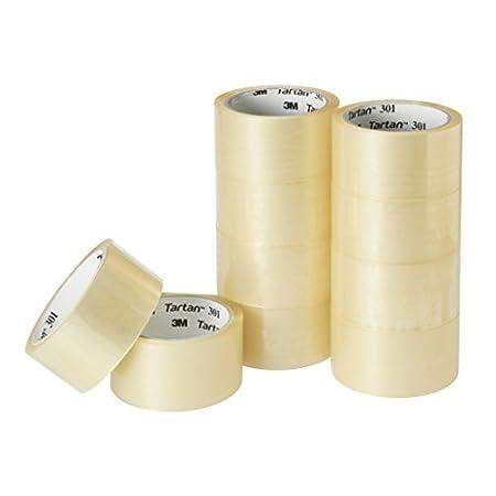 【100均とは違う】3M タータン 軽包装用 透明梱包テープ 48mmx49m 10巻入り 799円送料無料(79.9円/巻)!【24時まで】