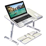 Avantree [Large Size] Neetto Height Adjustable Laptop Bed Desk, Portable Laptop Table Standing Desk, Sofa Breakfast Tray With Foldable Legs, Stand Reading Holder For Couch Floor Kids - Honeydew