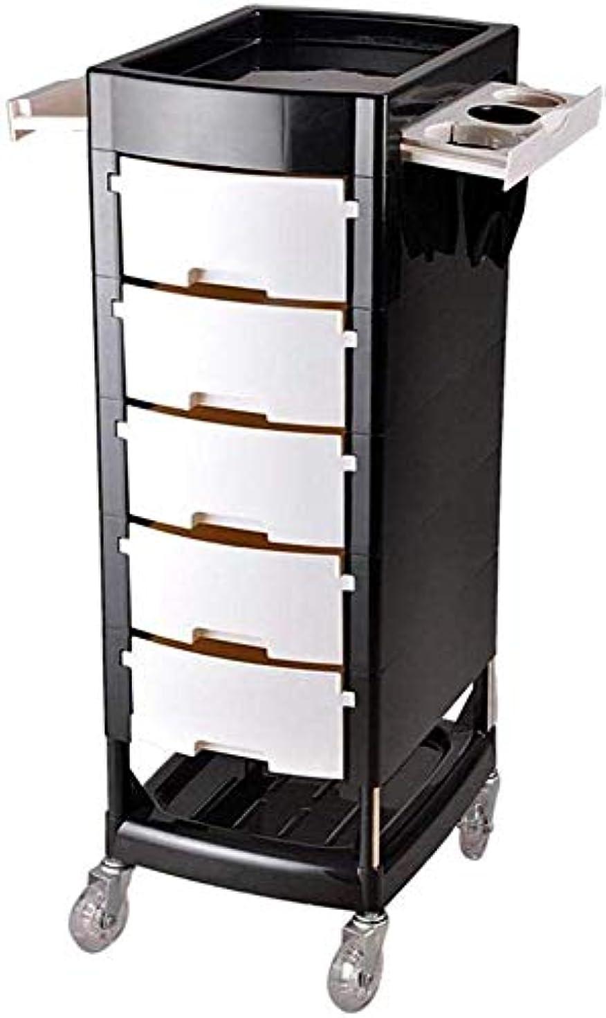 エージェント逸話香水工具収納、ホワイトのための5つの引き出しと美容美容サロントロリーストレージカートヘアカラーサロンSPAトレイヘアドライヤーホルダー