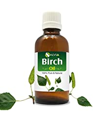 Birch Essential Oil (Betula pendula Betula alba) 100% Pure & Natural - Undiluted Uncut Therapeutic Grade - Aromatherapy...