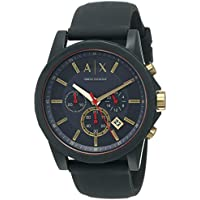 Armani Exchange Outerbanks Chronograph Watch Model AX1335 Silicone Chronograph 0723763266147 Blue