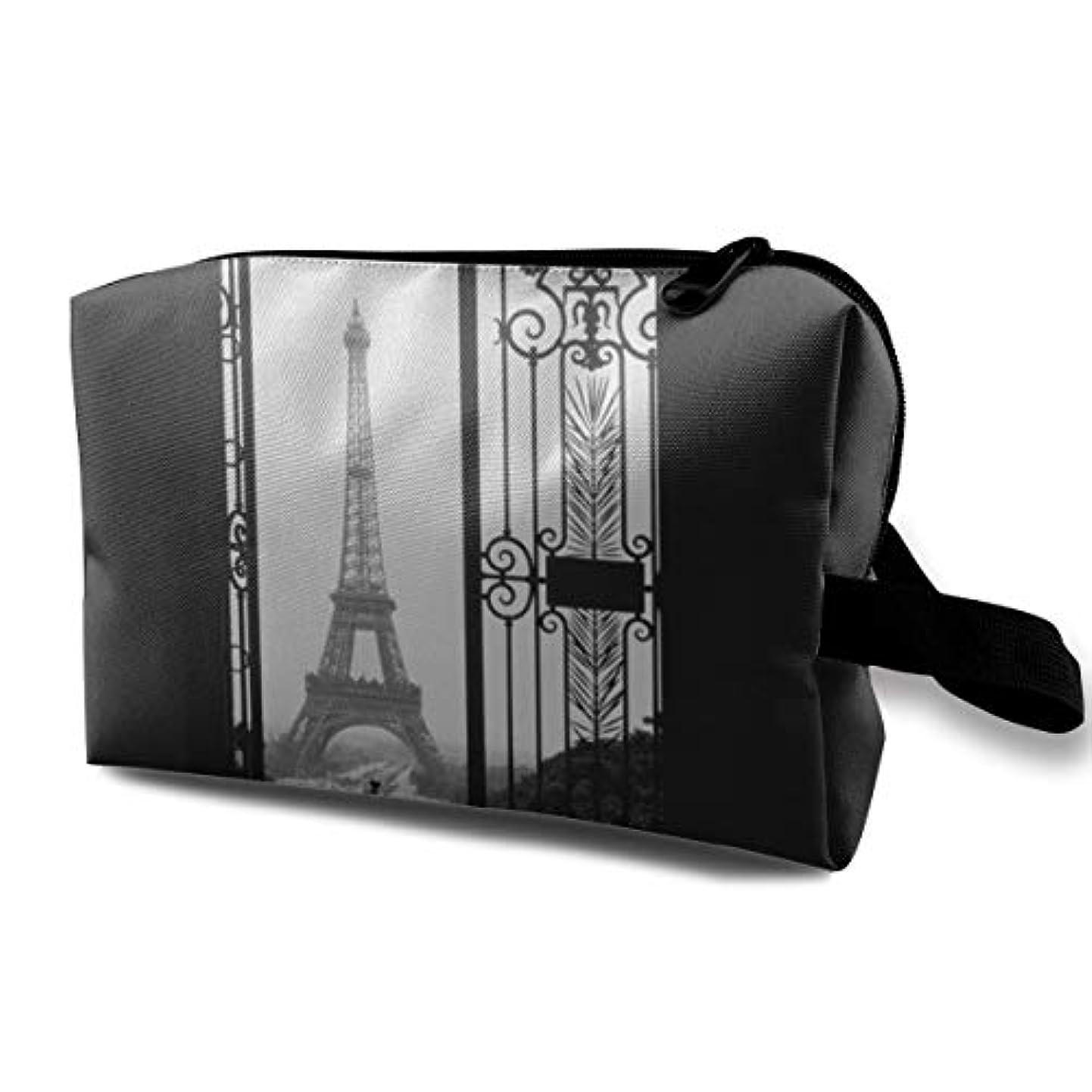 スクランブル管理一節Eiffel Tower In Paris 収納ポーチ 化粧ポーチ 大容量 軽量 耐久性 ハンドル付持ち運び便利。入れ 自宅?出張?旅行?アウトドア撮影などに対応。メンズ レディース トラベルグッズ