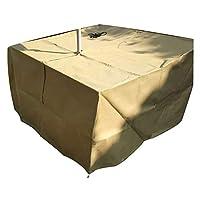 テーブルカバー カスタマイズされるテラスのテーブルの椅子セットのための長方形家具カバー頑丈な破損抵抗力がある保護カバー (Size : 120x120x85cm)