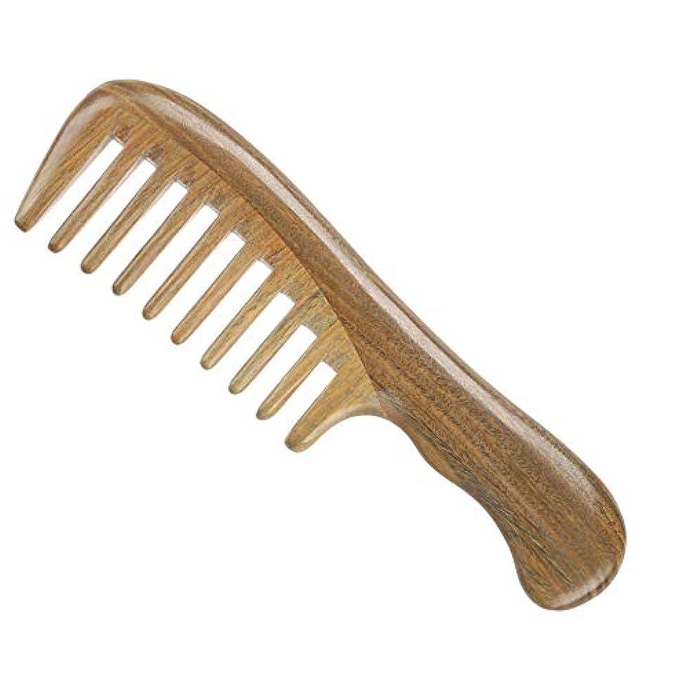 名義で人事クアッガGuomao グリーンサンダルウッドコームグリーンサンダルウッドコームワイド歯 (Size : 18.5*5 cm)