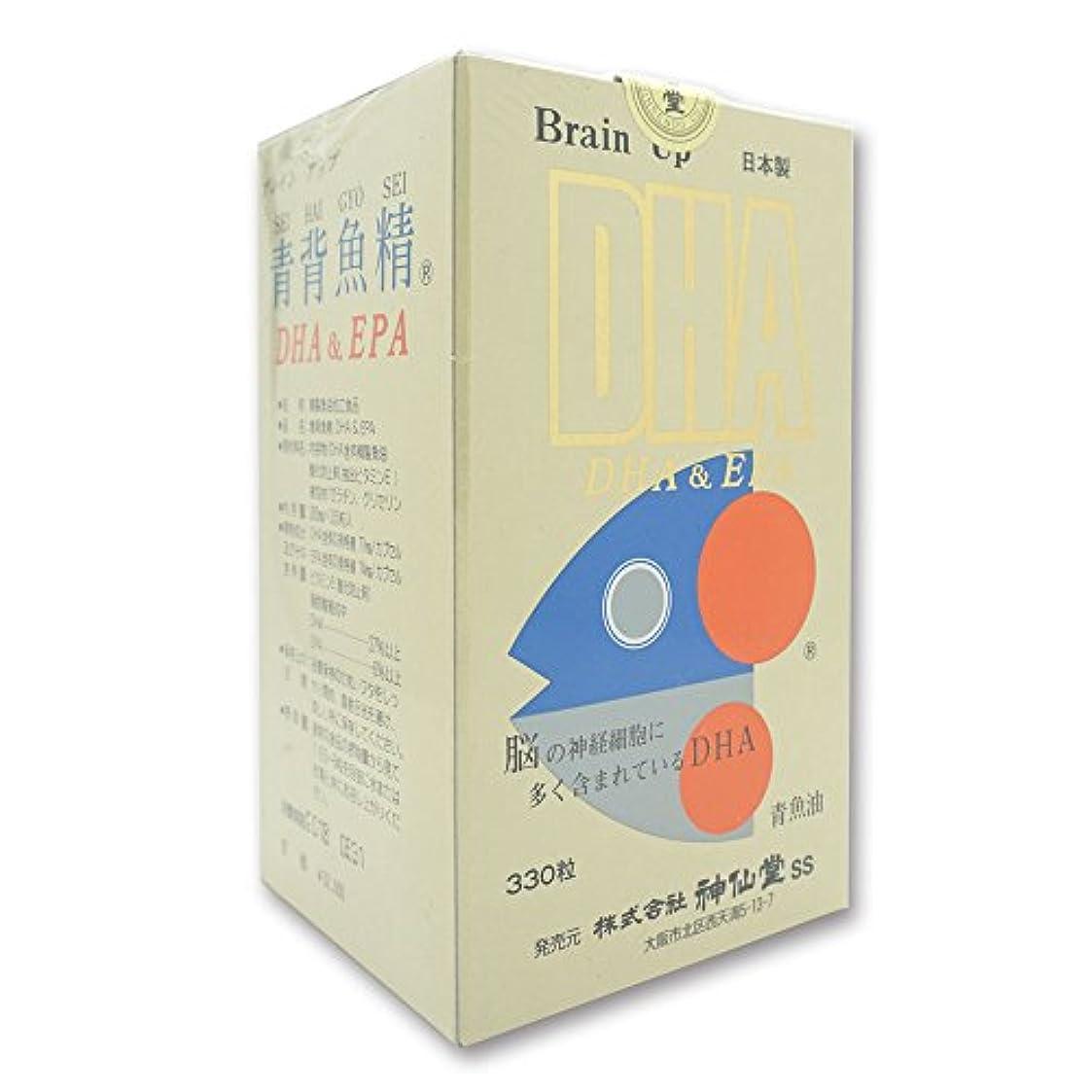 火薬ジョブ本能神仙堂 青背魚精 DHA&EPA 330粒 精製魚油加工食品