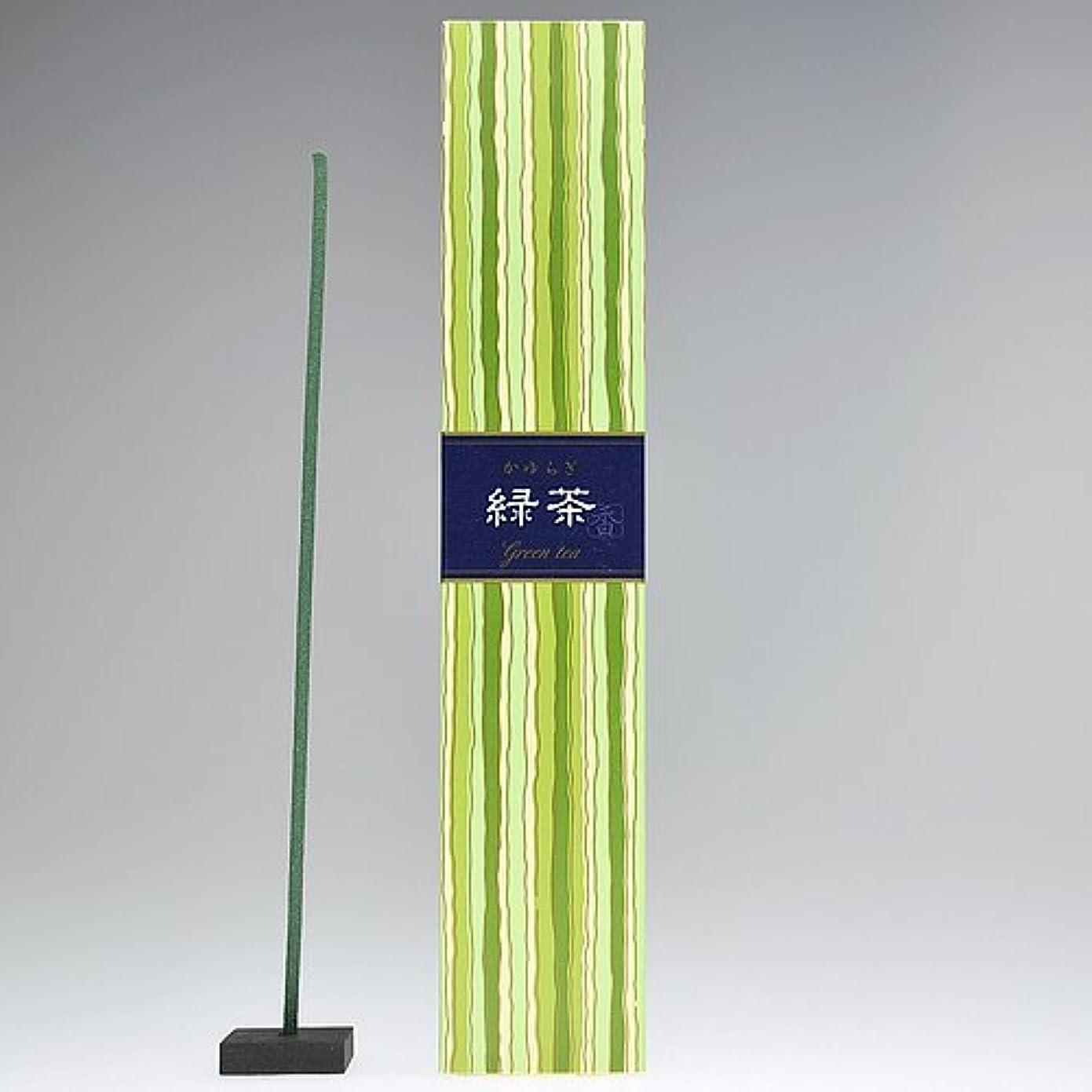 読者ウッズに対処する日本香堂  かゆらぎ 緑茶スティック40本入 香立付