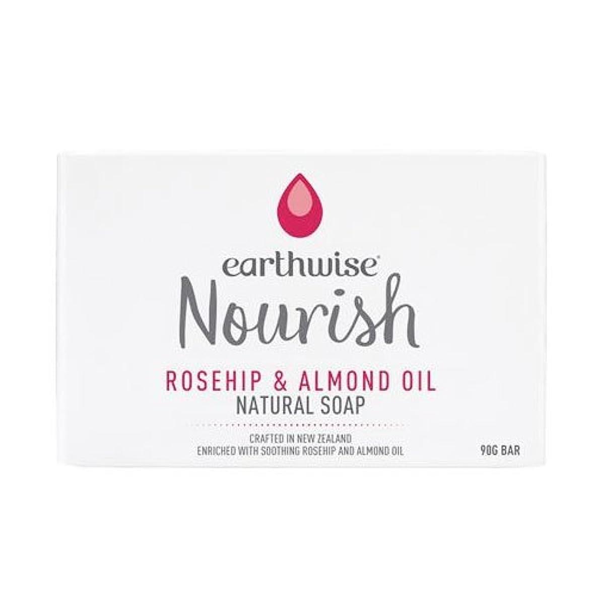 成人期スチールムスearthwise アースワイズ ナチュラルソープ 石鹸 90g (ローズヒップ&アーモンドオイル)