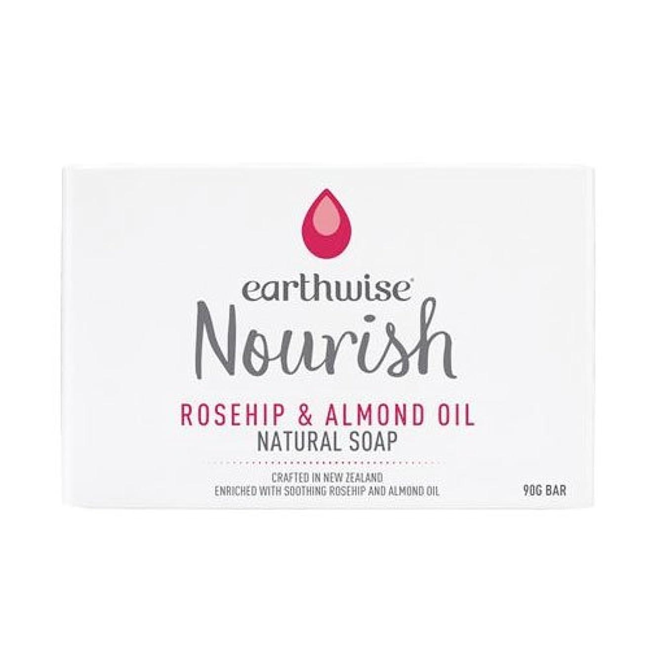 スペード寛容なオーバーフローearthwise アースワイズ ナチュラルソープ 石鹸 90g (ローズヒップ&アーモンドオイル)